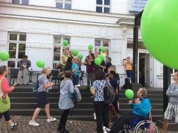 2018 Flashmob zum BE ENCOURAGED-Konzert